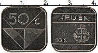 Изображение Монеты Аруба 50 центов 2012 Медно-никель UNC-