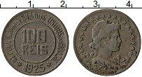 Изображение Монеты Бразилия 100 рейс 1925 Медно-никель XF