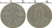 Изображение Монеты Канада 5 центов 1922 Медно-никель XF Георг V