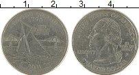 Изображение Монеты США 1/4 доллара 2001 Медно-никель UNC- Р Род Айленд