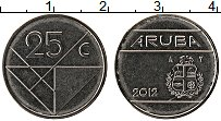 Изображение Монеты Аруба 25 центов 2012 Медно-никель UNC-
