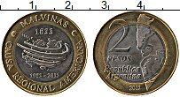 Продать Монеты Аргентина 2 песо 2012 Биметалл