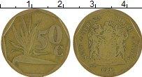 Изображение Монеты ЮАР 50 центов 1991 Латунь XF