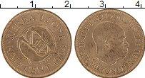 Изображение Монеты Сьерра-Леоне 1/2 цента 1964  UNC- Милтон Маркай