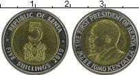 Изображение Монеты Кения 5 шиллингов 2010 Биметалл UNC-
