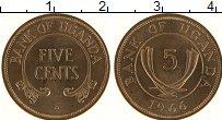 Изображение Монеты Уганда 5 центов 1966 Бронза UNC-