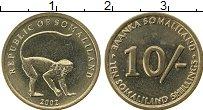 Изображение Монеты Сомали 10 шиллингов 2002 Латунь UNC-