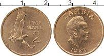 Изображение Монеты Замбия 2 нгвея 1983 Бронза UNC-