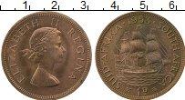 Изображение Монеты ЮАР 1 пенни 1953 Бронза UNC-