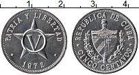 Изображение Монеты Куба 5 сентаво 1972 Алюминий UNC