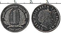 Изображение Монеты Карибы 1 цент 2004 Алюминий UNC- Елизавета II.