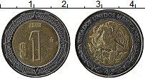 Изображение Монеты Мексика 1 песо 2008 Биметалл XF