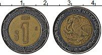 Изображение Монеты Мексика 1 песо 2004 Биметалл XF