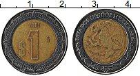 Изображение Монеты Мексика 1 песо 2001 Биметалл XF