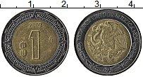 Изображение Монеты Мексика 1 песо 2009 Биметалл XF
