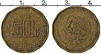 Изображение Монеты Мексика 50 сентаво 2006 Латунь XF
