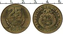 Изображение Монеты Коста-Рика 25 колон 2007 Латунь UNC-