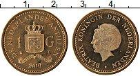 Изображение Монеты Антильские острова 1 гульден 2010 Латунь UNC
