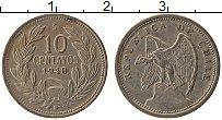 Изображение Монеты Чили 10 сентаво 1940 Медно-никель XF
