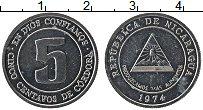 Изображение Монеты Никарагуа 5 сентаво 1974 Алюминий UNC-