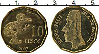 Продать Монеты Остров Пасхи 10 песо 2007 Медно-никель