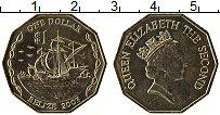 Продать Монеты Белиз 1 доллар 2007 Латунь