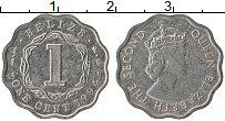 Изображение Монеты Белиз 1 цент 1994 Алюминий XF Елизавета II.