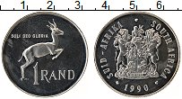 Изображение Монеты ЮАР 1 ранд 1990 Медно-никель Proof-