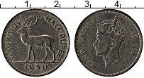 Изображение Монеты Маврикий 1/2 рупии 1950 Медно-никель XF