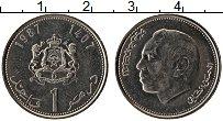 Изображение Монеты Марокко 1 дирхам 1987 Медно-никель UNC-
