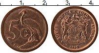Изображение Монеты ЮАР 5 центов 1990 Бронза UNC-