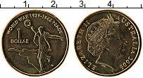 Изображение Монеты Австралия 1 доллар 2005 Латунь UNC- Елизавета II. 60 лет