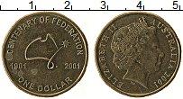 Изображение Монеты Австралия 1 доллар 2001 Латунь XF