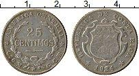 Изображение Монеты Коста-Рика 25 сентим 1924 Серебро XF Герб
