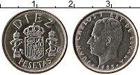 Изображение Монеты Испания 10 песет 1983 Медно-никель XF