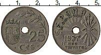 Изображение Мелочь Испания 25 сентим 1937 Медно-никель VF Герб