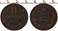 Изображение Монеты Гернси 8 дублей 1914 Медь XF