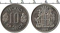 Изображение Монеты Исландия 10 крон 1977 Медно-никель UNC-