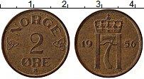 Изображение Монеты Норвегия 2 эре 1956 Медь XF
