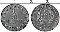Изображение Монеты Албания 1/2 лека 1957 Цинк XF Герб