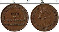 Изображение Монеты Панама 1 1/4 сентесимо 1940 Бронза XF