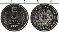 Продать Монеты Узбекистан 5 сомов 1997 Медно-никель