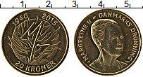 Изображение Монеты Дания 20 крон 2015 Латунь UNC