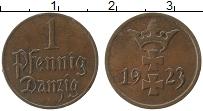 Продать Монеты Данциг 1 пфенниг 1923 Медь