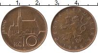 Изображение Монеты Чехия 10 крон 1996 Медь XF
