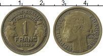Изображение Монеты Франция 1 франк 1932 Латунь XF
