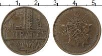 Изображение Монеты Франция 10 франков 1974 Медь XF