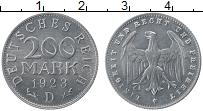 Изображение Монеты Веймарская республика 200 марок 1923 Алюминий UNC-