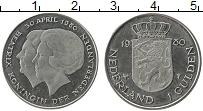 Изображение Монеты Нидерланды 1 гульден 1980 Медно-никель UNC- Беатрикс
