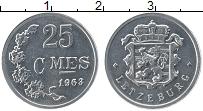 Изображение Монеты Люксембург 25 сентим 1968 Алюминий UNC- Герб